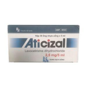 Aticizal Hộp 30 ống - Điều trị triệu chứng của dị ứng