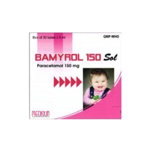 Bamyrol 150mg/5ml Hộp 20 ống - Hạ sốt, giảm đau