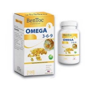 BenToc Omega 369 Lọ 100 Viên - Bổ Sung Dưỡng Chất Cho Não Bộ