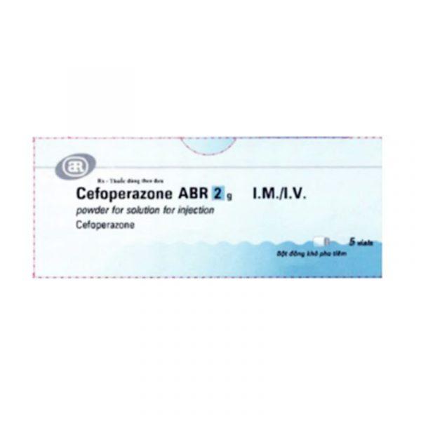Thuốc Cefoperazone ABR - Hộp 5 Lọ - Điều Trị Nhiễm Trùng