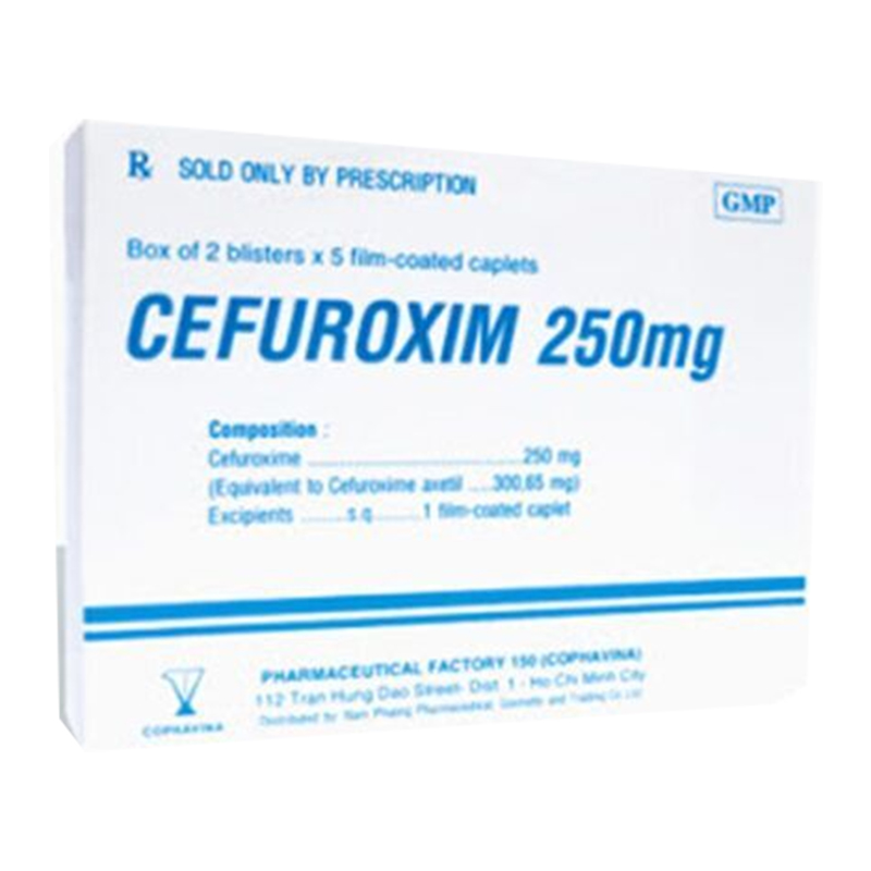 Cefuroxim 250mg hộp 20 viên