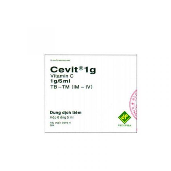 Thuốc Tiêm Cevit 1g - Hộp 6 Ống - Điều Trị Thiếu Vitamin C