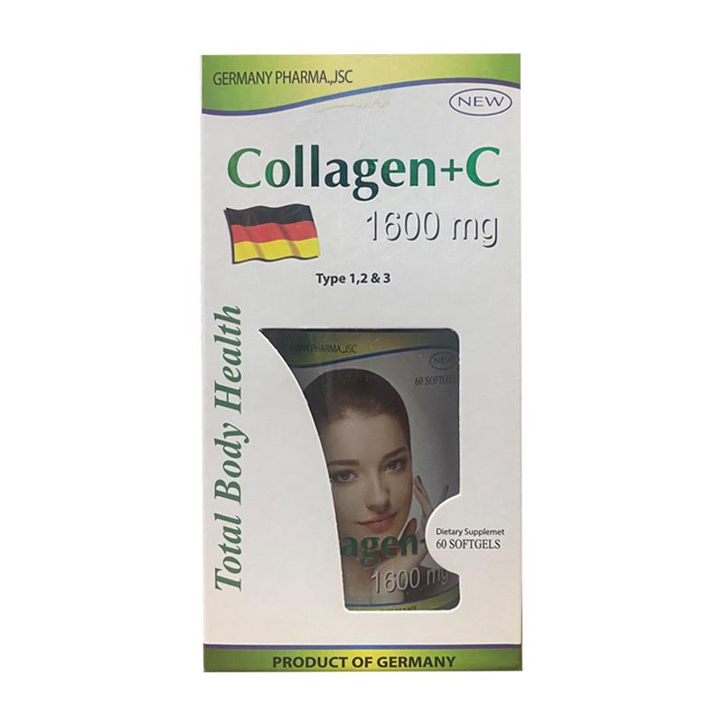 Collagen + C 1600mg Total Body Health Hộp 60 Viên
