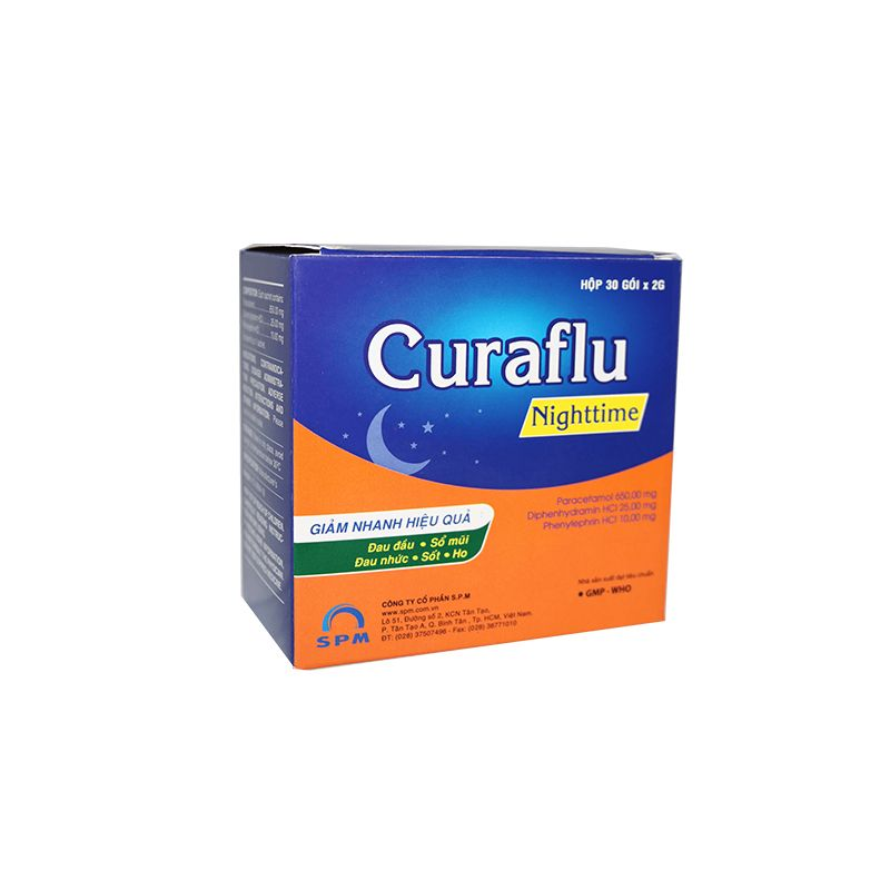 Curaflu Nighttime Hộp 30 Gói - Điều Trị Dị Ứng