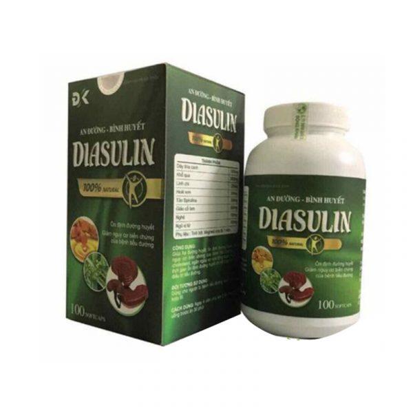 Diasulin Hộp 100 Viên - An Đường Bình Huyết