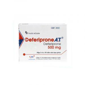 Deferiprone A.T 500mg Hộp 30 Viên - Điều Trị Nhiễm Hemosiderin