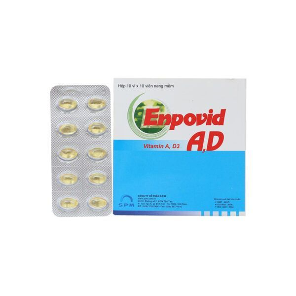 Enpovid AD Hộp 100 Viên - Bổ Sung Vitamin A Và Vitamin D3