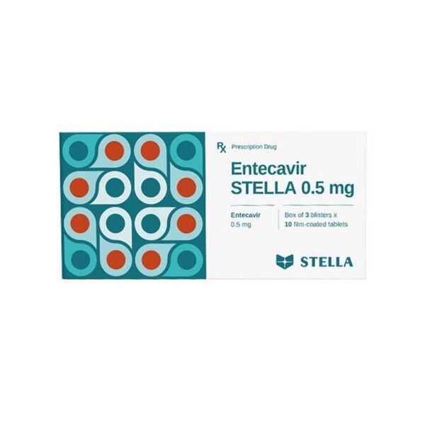 Entecavir STELLA hộp 30 viên - Điều trị viêm gan B mạn tính ở người lớn