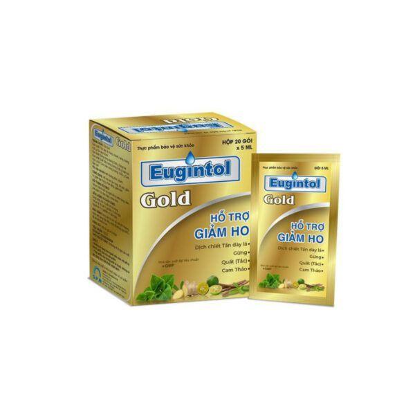 Eugintol Gold Hộp 20 Gói - Hỗ Trợ Giảm Ho