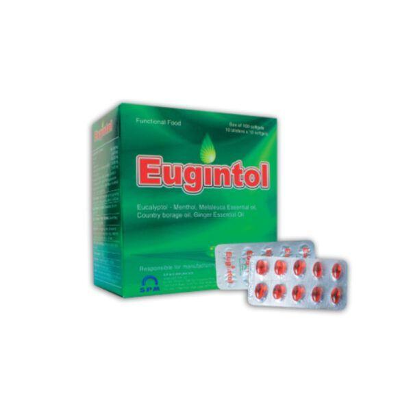 Eugintol Hộp 100 viên - Hỗ Trợ Giảm Ho, Tiêu Đờm, Giảm Đau
