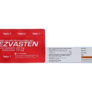 Ezvasten Hộp 28 Viên - Hỗ Trợ Giảm Cholesterol Máu