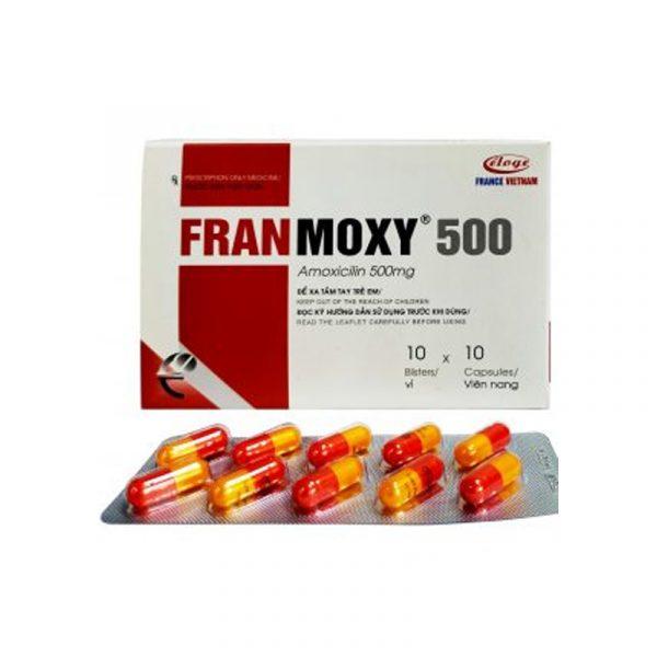 Franmoxy 500 Hộp 100 Viên - Điều Trị Nhiễm Khuẩn