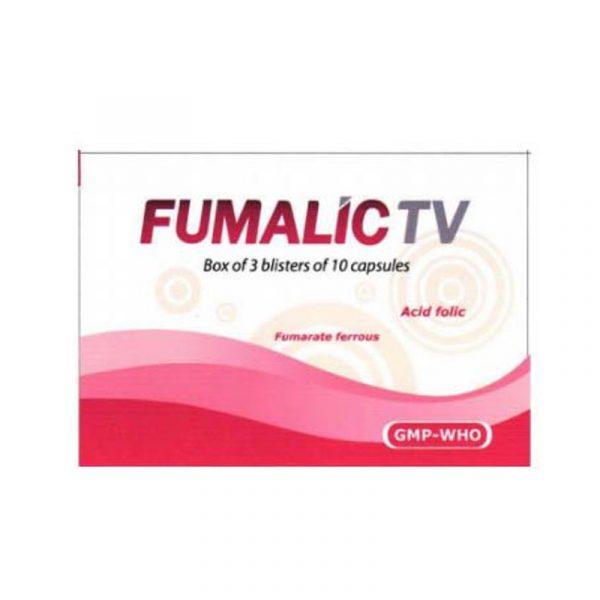 Fumalic TV Hộp 30 viên - Bổ Sung Sắt Và Acid Folic Cho Cơ Thể