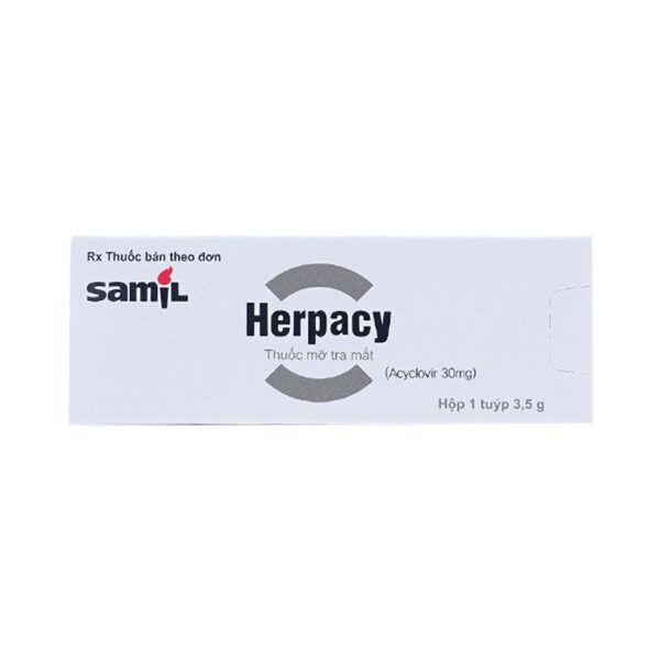 Herpacy Tuýp 3.5g - Điều trị nhiễm trùng da và niêm mạc mắt do virus