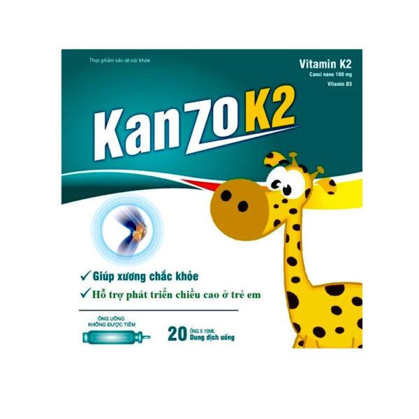 Kamzo K2 Hộp 20 Ống - Hỗ Trợ Phát Triển Xương Và Chiều Cao