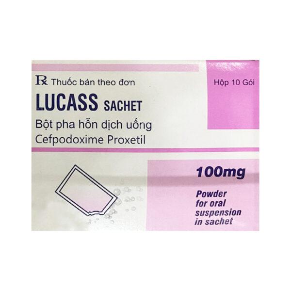 Thuốc Lucass 100mg - Hộp 10 Gói - Thuốc Kháng Sinh