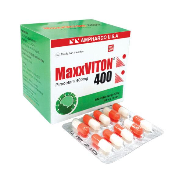 MaxxViton 400 Hộp 100 Viên - Ðiều Trị Triệu Chứng Chóng Mặt