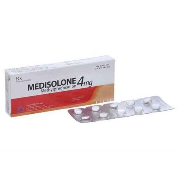 Medisolone 4 Hộp 30 Viên - Thuốc Kháng Viêm, Ức Chế Miễn Dịch