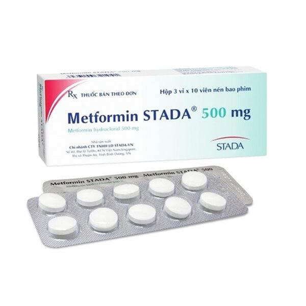 Metformin Stada 500 Hộp 30 Viên - Điều Trị Đái Tháo Đường