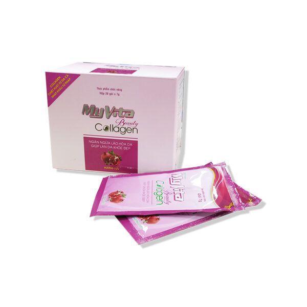 MyVita Beauty Collagen Hộp 20 Gói - Ngăn Ngừa Lão Hóa Làn Da, Giúp Làn Da Khỏe Đẹp