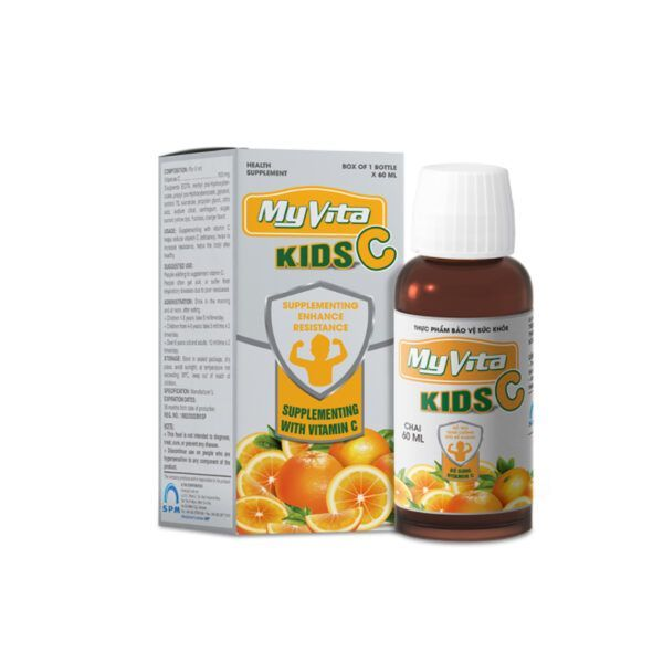 Myvita Kids C Lọ 60ml - Hỗ Trợ Tăng Cường Sức Đề Kháng Trẻ Nhỏ