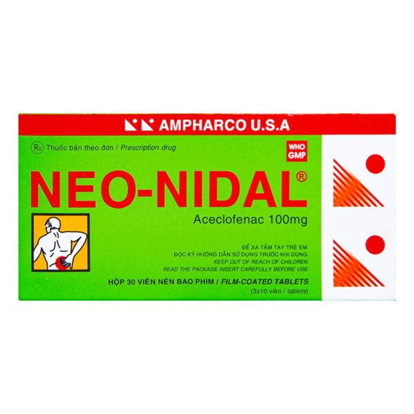 Neo Nidal Hộp 30 Viên - Điều Trị Đau Sau Chấn Thương