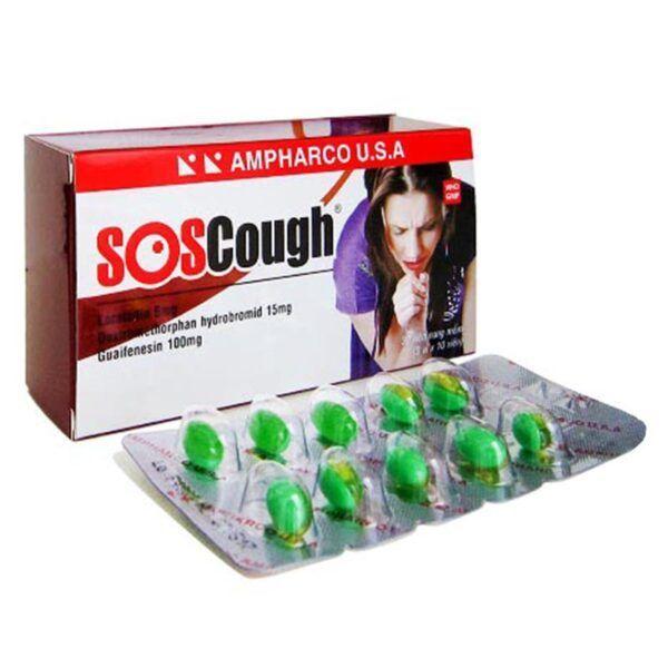 SoS Cough Hộp 30 Viên - Điều Trị Viêm Họng