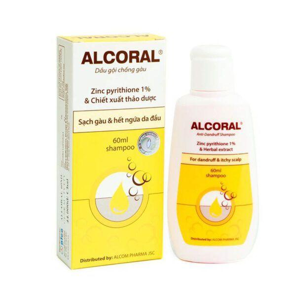 Dầu Gội Chống Gàu Alcoral Chai 60ml - Sạch Gàu Và Hết Ngứa Da Đầu