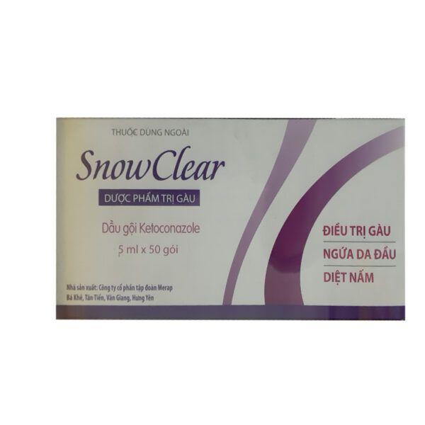 Dược Phẩm Trị Gàu Snow Clear Hộp 50 Gói - Giảm Ngứa Da Đầu, Trị Gàu Hiệu Quả
