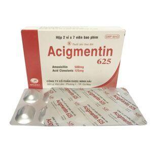 Acigmentin 625 Hộp 14 viên - Thuốc kháng sinh