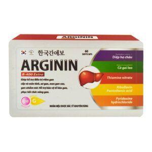 Arginin B-400 Extra Hộp 60 viên - Mát gan, lợi mật