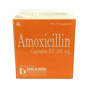 Amoxicillin 500mg Hộp 100 viên - Kháng nhiễm khuẩn