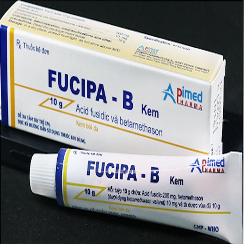 Fucipa B - Tuýp 10g - Điều trị viêm da nhiễm khuẩn