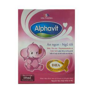 Alphavit Hộp 20 ống x10ml - Dung dịch uống ăn ngon ngủ tốt