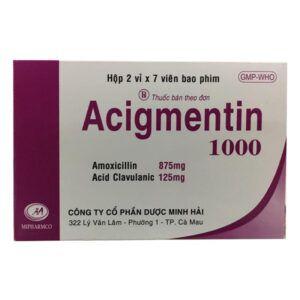 Acigmentin 1000 Hộp 14 viên - Điều trị nhiễm khuẩn