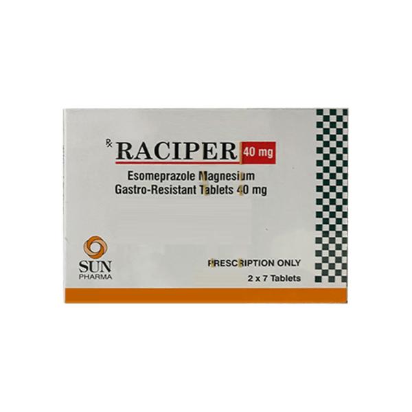 Raciper 40mg Hộp 14 viên - Điều trị trào ngược dạ dày, thực quản