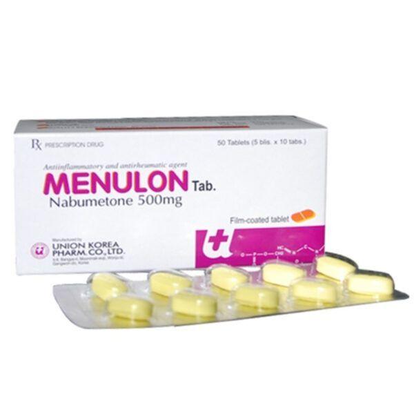 Menulon Tab 500mg Hộp 50 viên - Điều trị viêm xương khớp