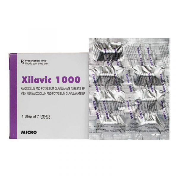 Xilavic 1000 Hộp 7 viên - Kháng sinh kháng khuẩn
