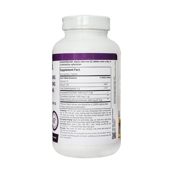 Glucosamine 1500mg Chondroitin 1000mg Lọ 200 Viên - Bổ Xương Khớp
