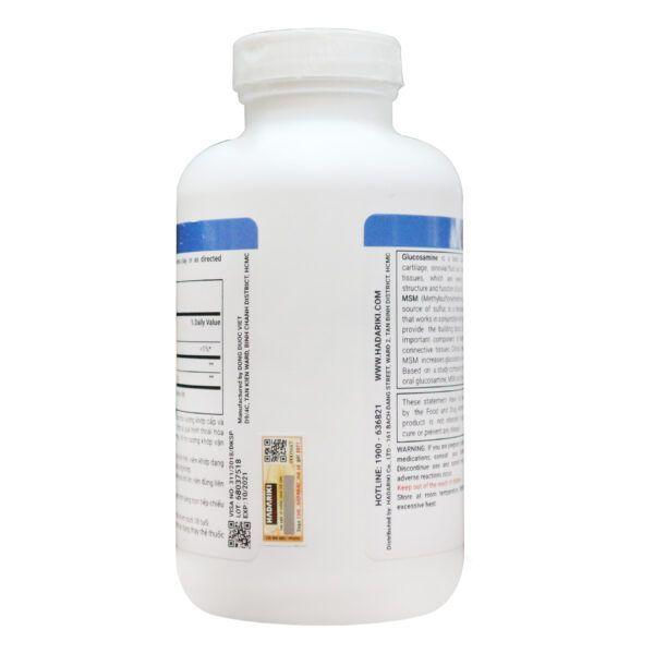Glucosamine 1500mg MSM 1500mg Lọ 375 Viên - Bổ Xương Khớp