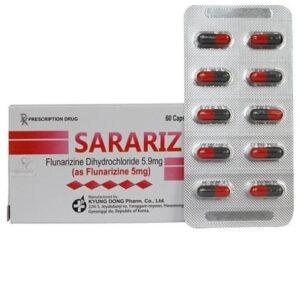 Sarariz Capsule 5mg Hộp 100 viên - điều trị rối loạn tiền đình