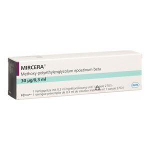Mircera - Hộp 1 bơm tiêm - ĐiềuTrị Thiếu MáuDo Bệnh Thận Mạn Tính