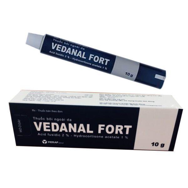 Thuốc Bôi Ngoài Da Vedanal Fort Tuýp 10g - Điều Trị Bệnh Ngoài Da