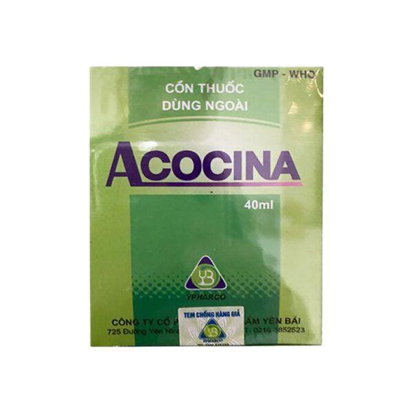 Cồn Thuốc Dùng Ngoài Acocina Chai 40ml - Giảm Đau, Tan Huyết Tụ, Tiêu Sưng
