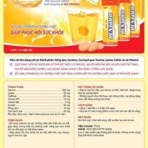 Ben Gold Tuýp 10 Viên - Bổ Sung Vitamin Và Dưỡng Chất