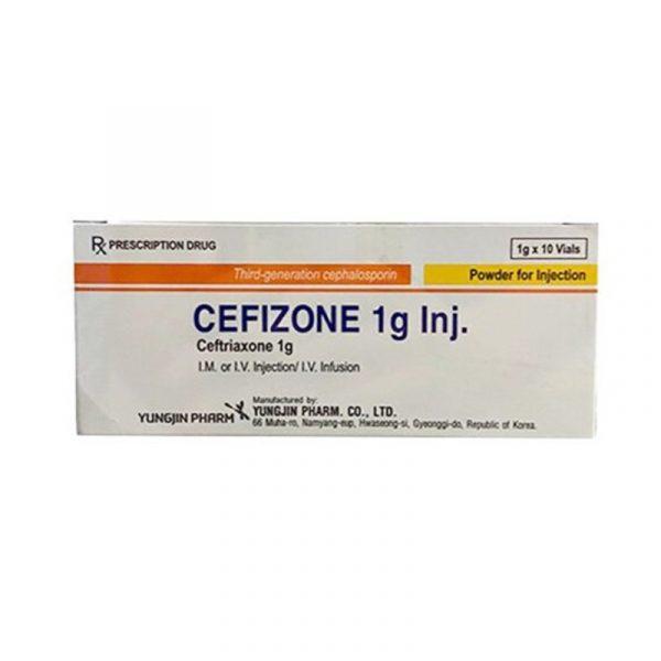 Thuốc Cefizone 1g Inj - Hộp 10 Lọ - Thuốc Kháng Sinh