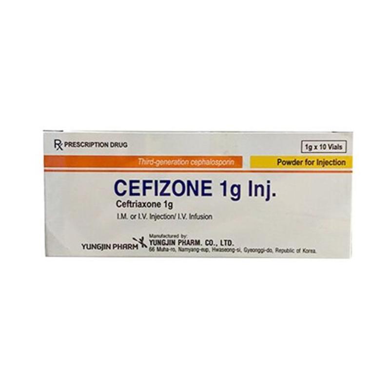 Cefizone 1g Inj Hộp 10 Lọ