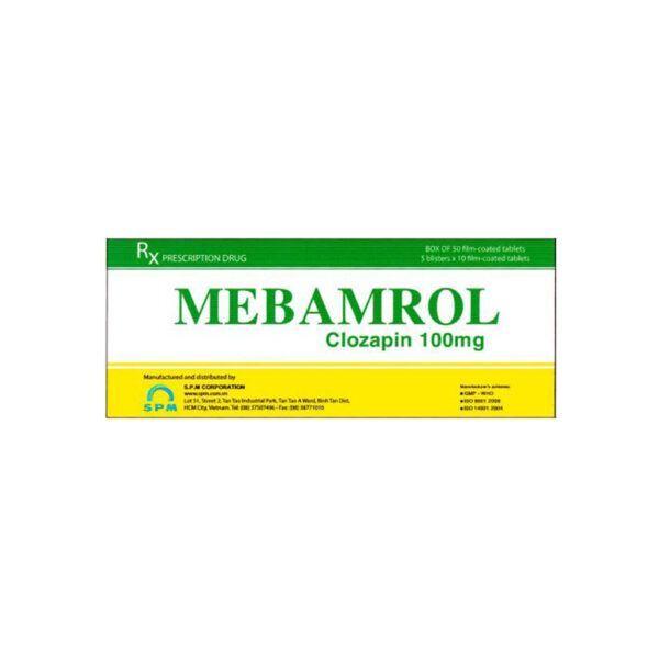 Mebamrol Hộp 50 Viên - Thuốc Chống Loạn Thần