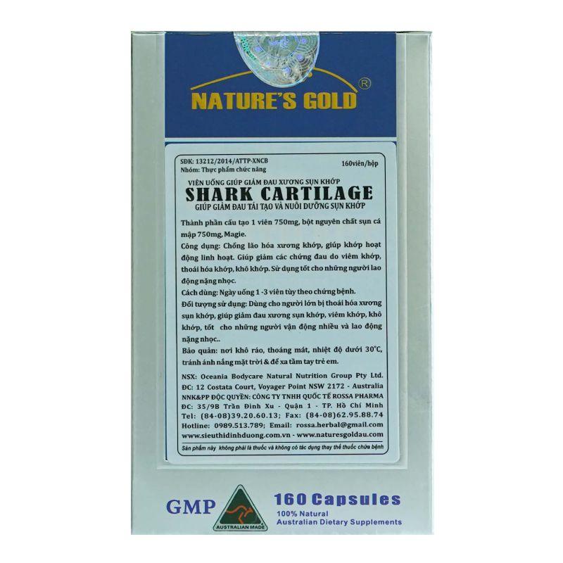 Shark Cartilage Hộp 160 Viên - Thành Phần Công Dụng