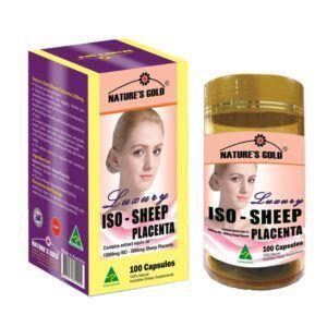Iso Sheep Placenta Hộp 100 Viên - Bổ Sung Nội Tiết Tố, Trị Nám Làm Đẹp Da